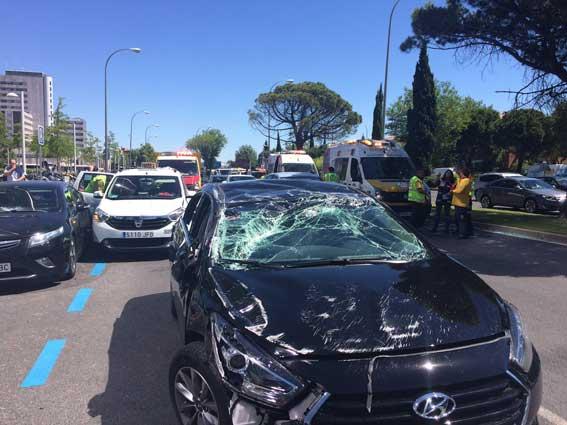 4 heridos en un accidente entre una VTC y un taxi