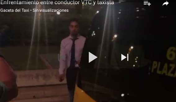 Enfrentamiento entre un conductor de VTC y un taxista en Barcelona