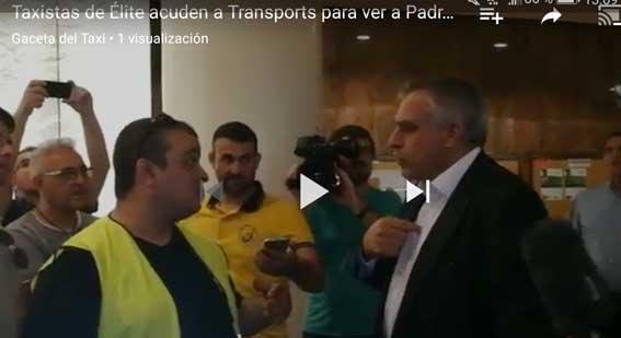 """Taxistas ocupan Transports al grito de """"Padrosa dimisión"""""""