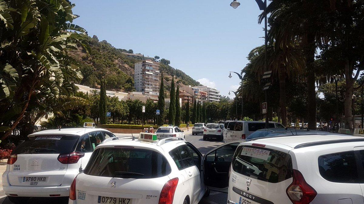 Huelga del taxi en Málaga durante la Feria