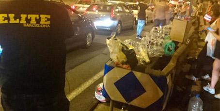El taxi de Barcelona se vuelca con las víctimas del atentado