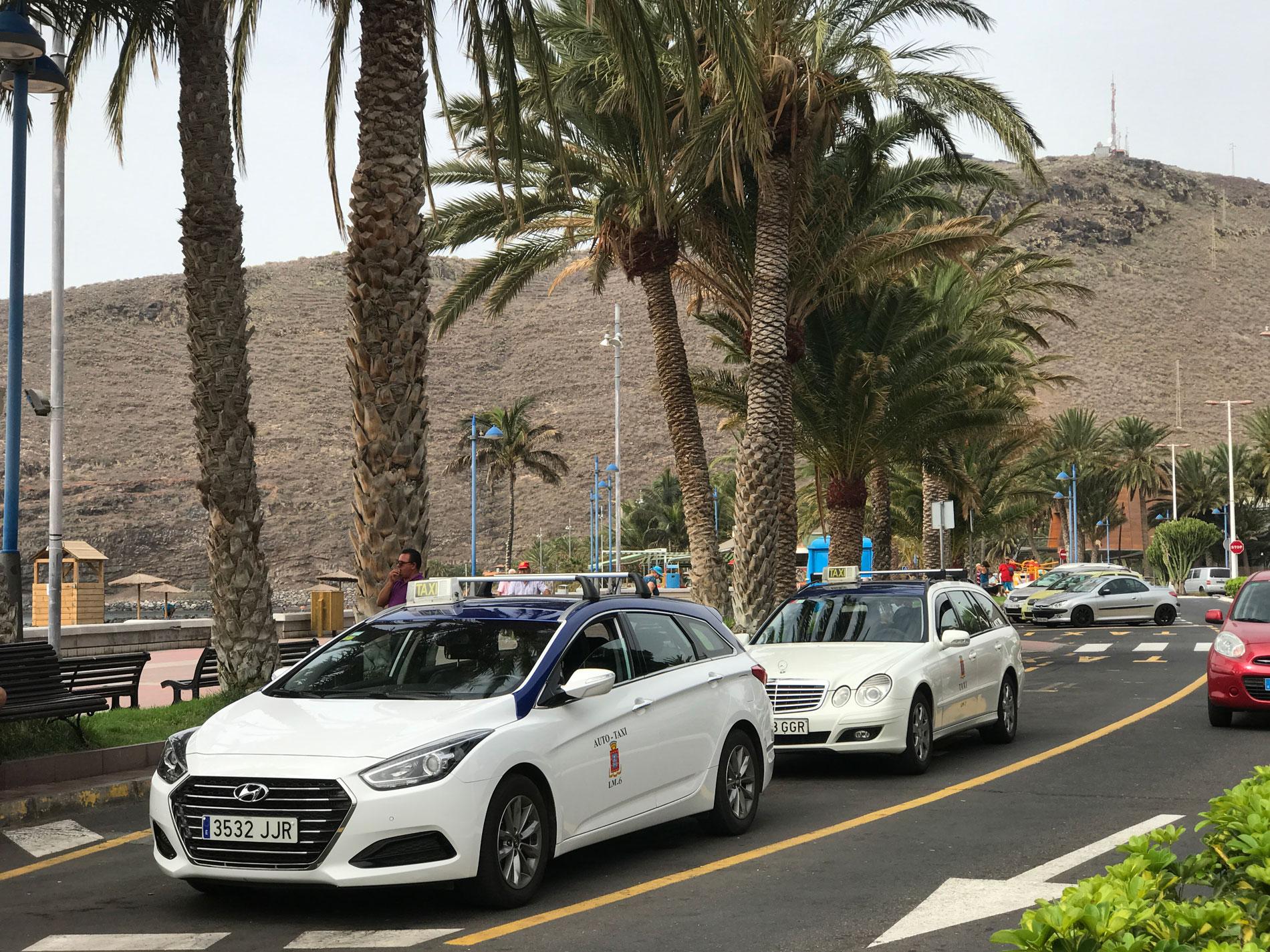 Rutas turísticas para los taxis de la capital de la Gomera