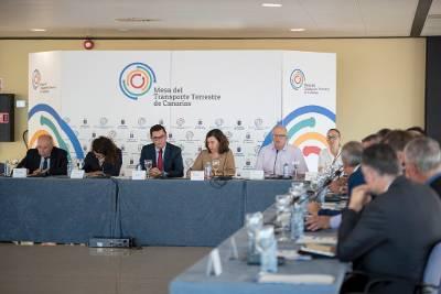 Constituida la Mesa del Transporte del Gobierno de Canarias