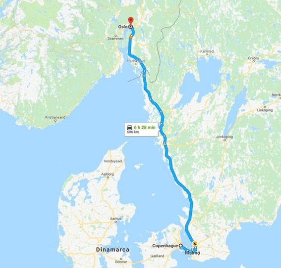 Se niega a pagar a una carrera entre Copenhague y Oslo