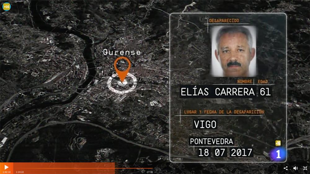 El programa Desaparecidos también busca a Elías Carrera