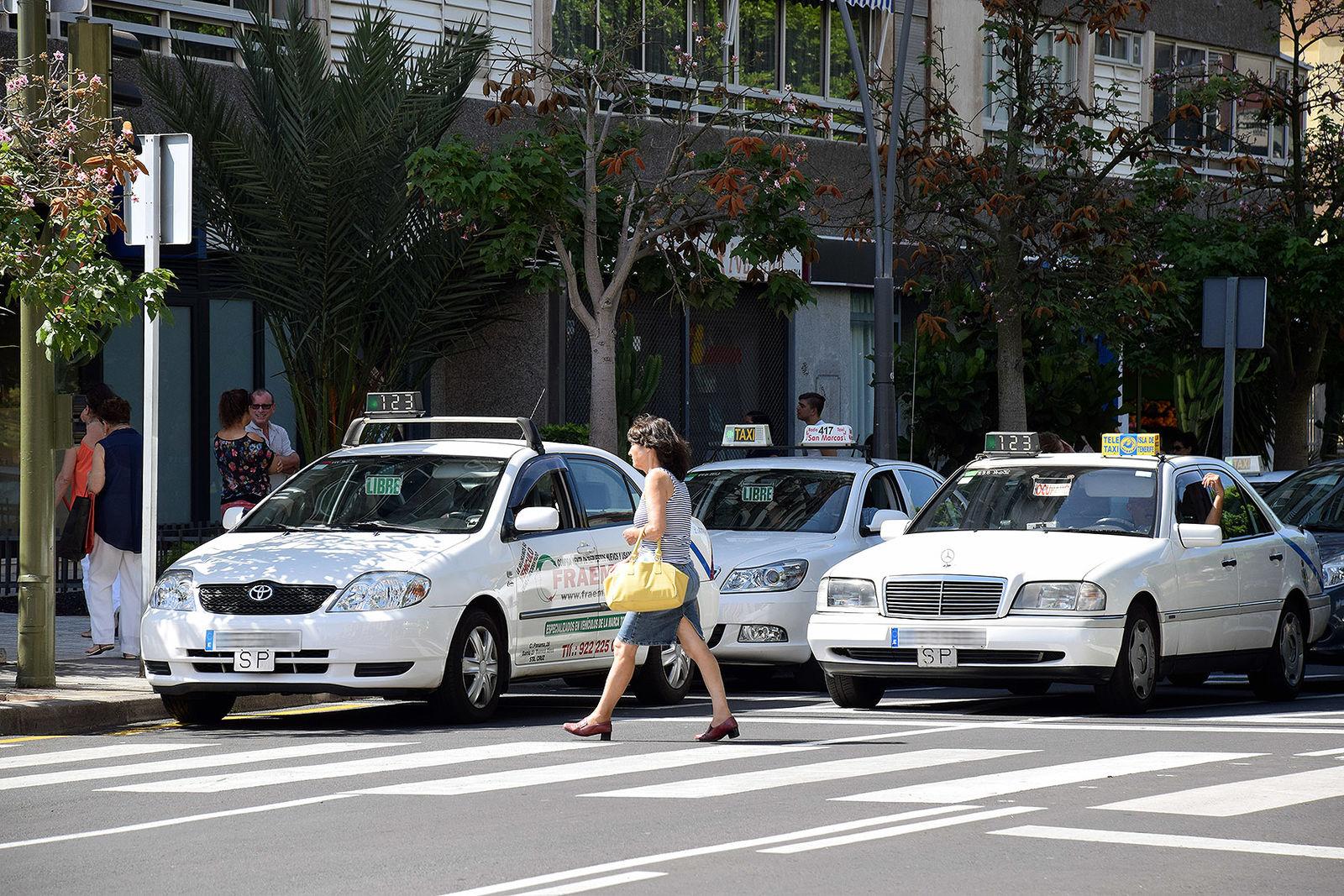Manifestación del taxi de Santa Cruz los días 14 y 15 de enero