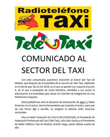 RTT y Teletaxi se integran en una app conjunta