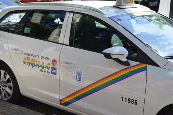 El taxi se viste de arcoíris para el Orgullo