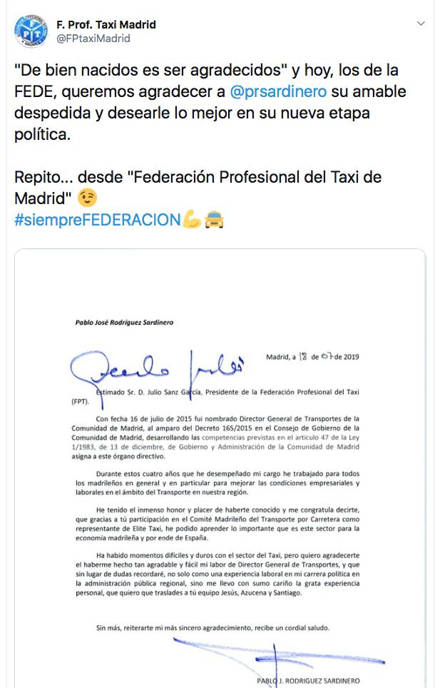 Lapsus en la despedida de Rodríguez Sardinero