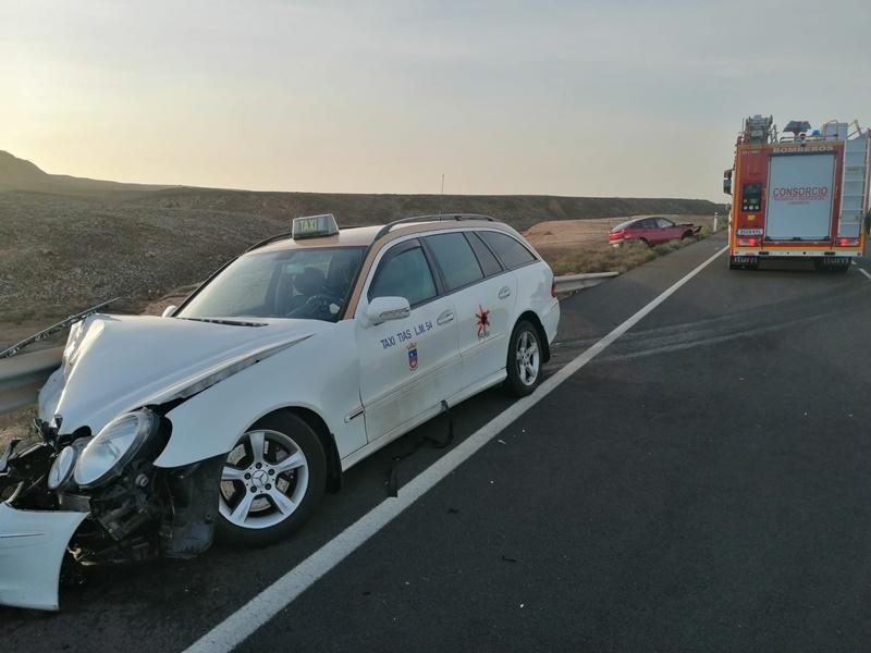 En estado crítico un taxista tras sufrir un accidente de tráfico