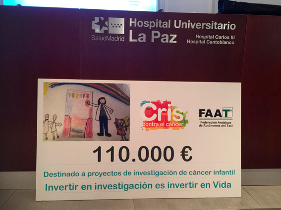 Mujeres taxistas entregan 110.000 euros para luchar contra el cáncer infantil