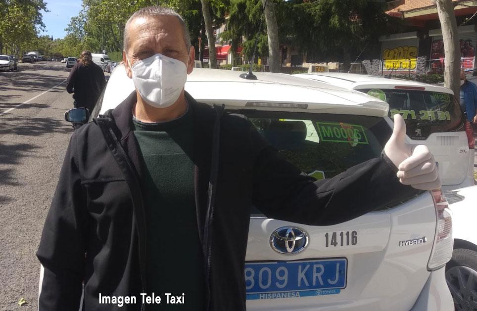 Emotiva sorpresa a un taxista madrileño