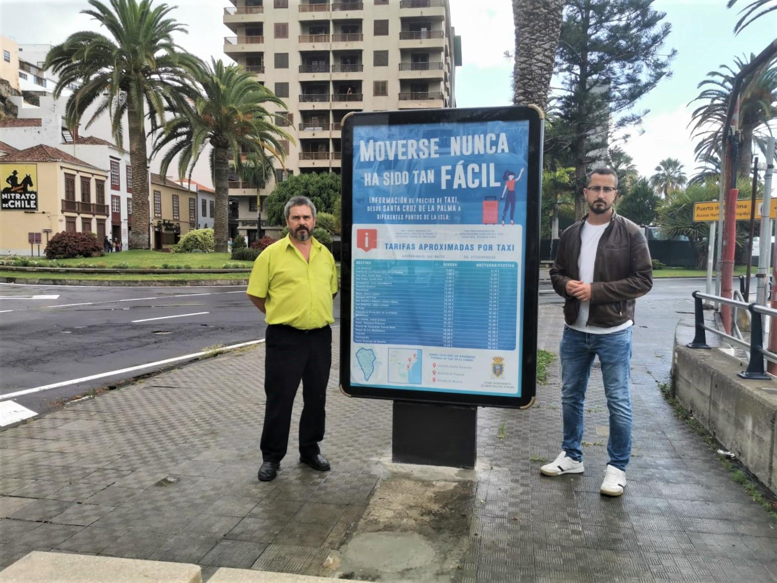 La Palma instala paneles informativos en las paradas de taxis
