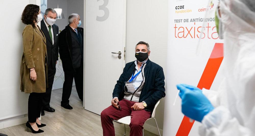 Nuevo punto para realizar test de antígenos al taxi