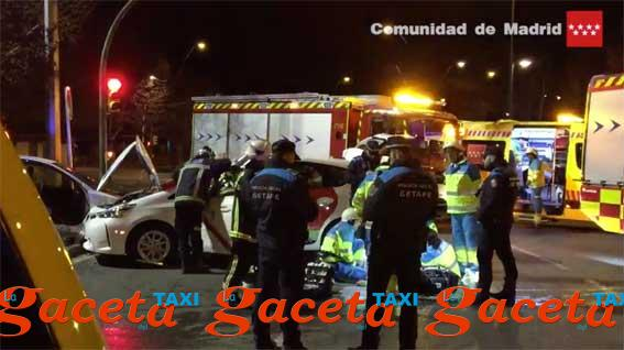 Fallece un taxista en un accidente en Getafe